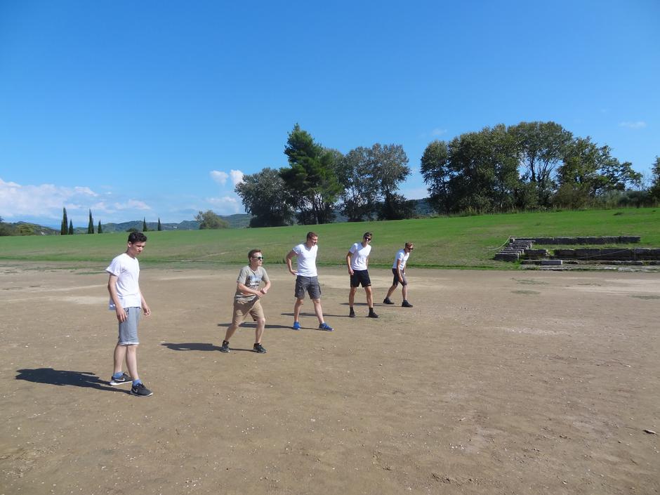 In Olympia werden die antiken olympischen Spiele nachgestellt.