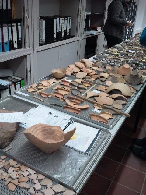 So wie die Funde in Wollersheim sehen ungefähr auch unsere Funde aus Euchen aus.