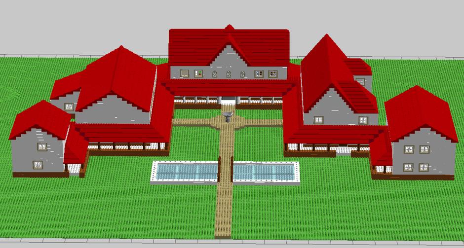 Eine virtuelle LEGO-Villa erstellt mit dem Programm Lego.Digital.Designer