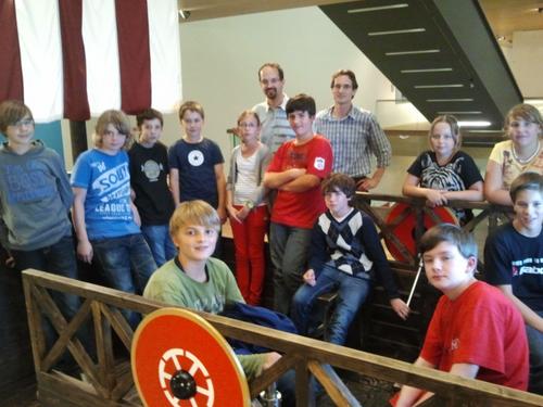 Die Römerschiff-Besatzung des HGG nach ihrem virtuellen Ruderwettbewerb.