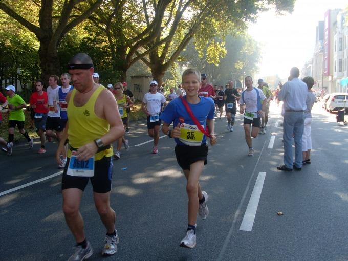 6te-Klasse, mit Abstand am jüngsten, und doch: als 10 km-Läufer 1. Klasse!