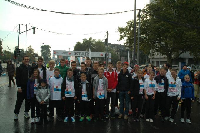 Die HGG-Laufgruppe am Start in Köln-Deutz