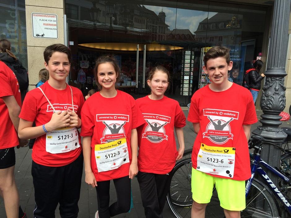 Mit 22 km lief die Klasse 8a ihren eigenen Halb-Marathon.