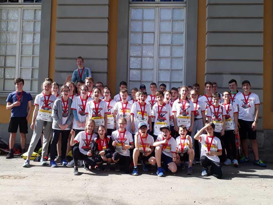 Das erfolgreichste HGG-Schulmarathonteam in ganzer Breite.