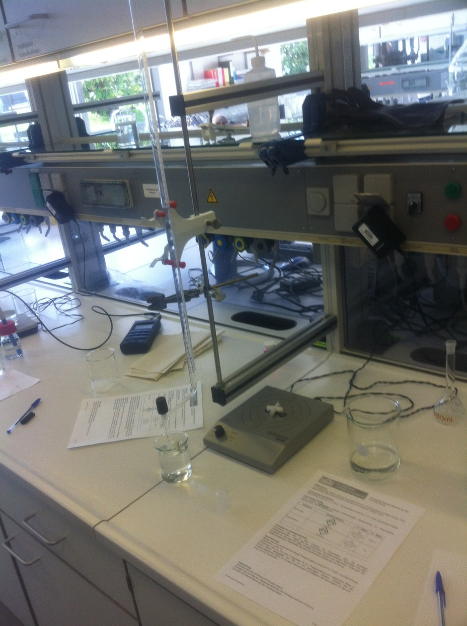 Titrations-Apparatur
