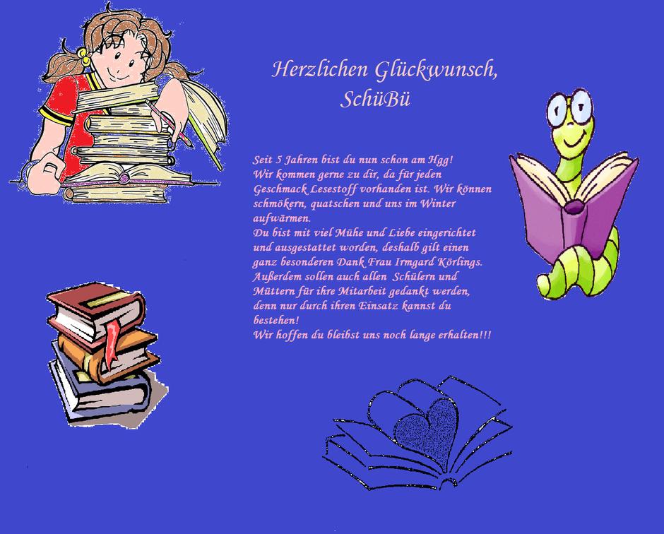 Eine Liebeserklärung an die Schülerbücherei. Danke!