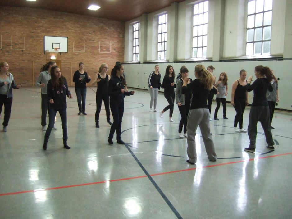 Choreo in der Turnhalle