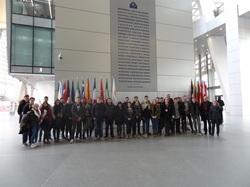 Besuch bei der europäischen Zentralbank in Frankfurt