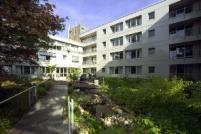 Vor dem Hospiz in Aachen