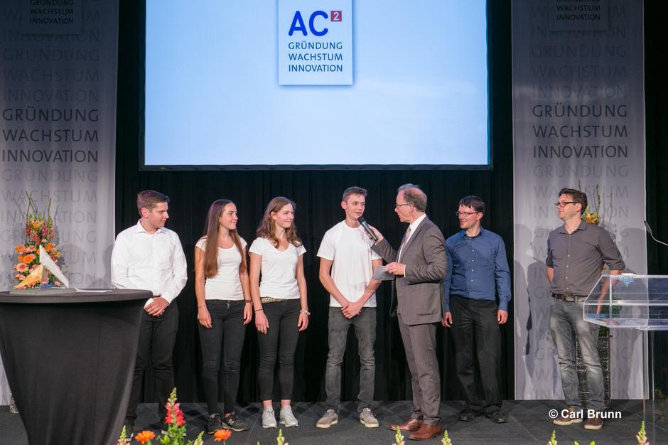 Team mindfit bei der Preisverleihung von AC² im Krönungssaal