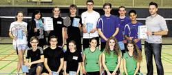 Badminton-Spieler des HGG sind Städteregionsmeister
