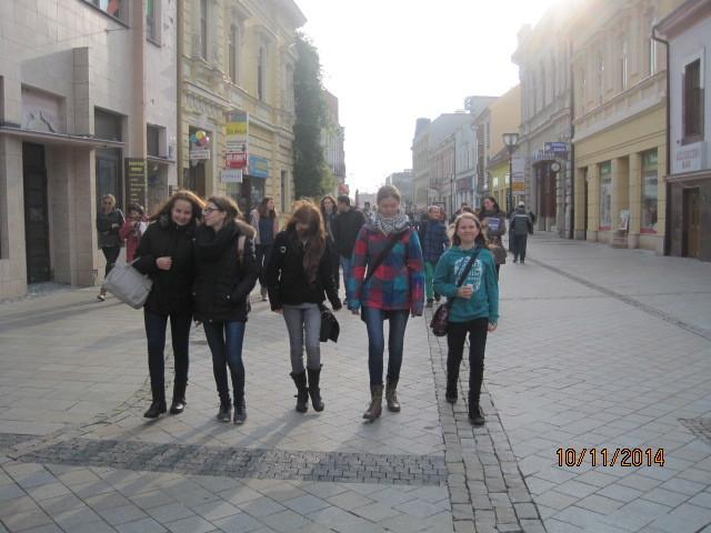 In der Fußgängerzone von Nitra