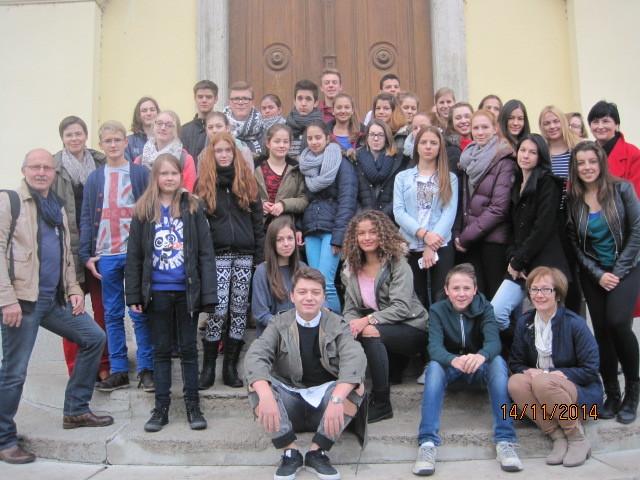 Abschiedsfoto vor der Piaristenkirche