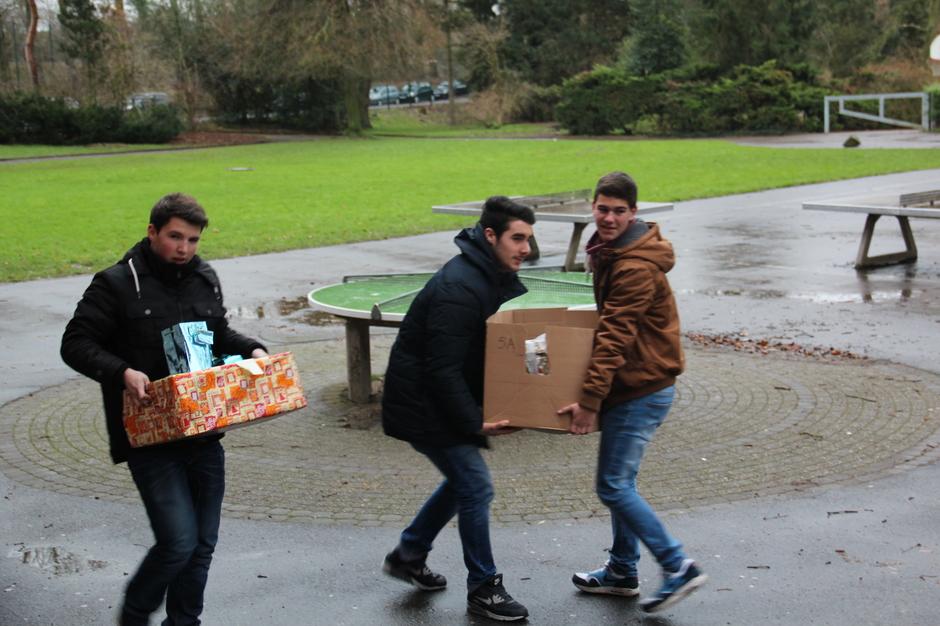 Transport der Kisten